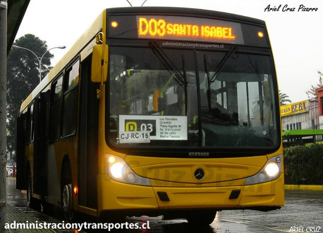 Transantiago D03 | STP Santiago | Caio Mondego H - Mercedes Benz / CJRC16