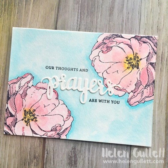 One Layer Watercolor Card 04