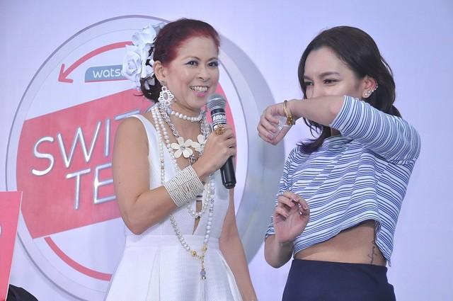 Watsons Switch and Save Ambassadors Tessa Valdez with Beauty Blogger Kaycee  Liwanag
