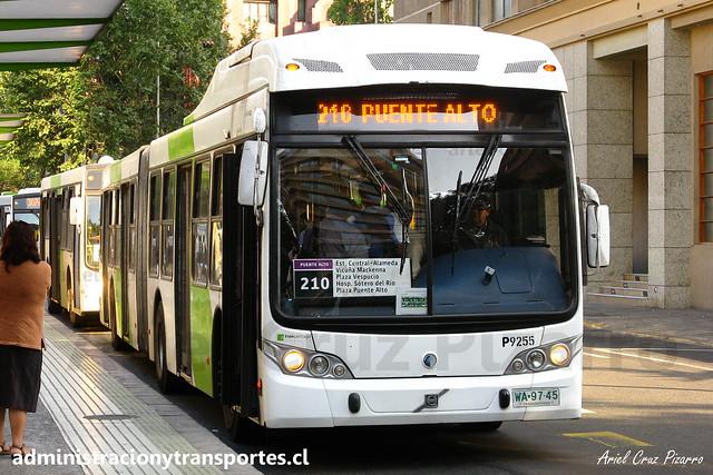 Transantiago - 210 | Subus Chile | Caio Mondego LA - Volvo B9 SALF / WA9745 - 9255