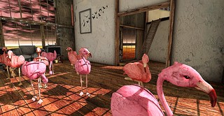 A Curious Flamingo Invasion by Tamarind Silverfall, on Flickr