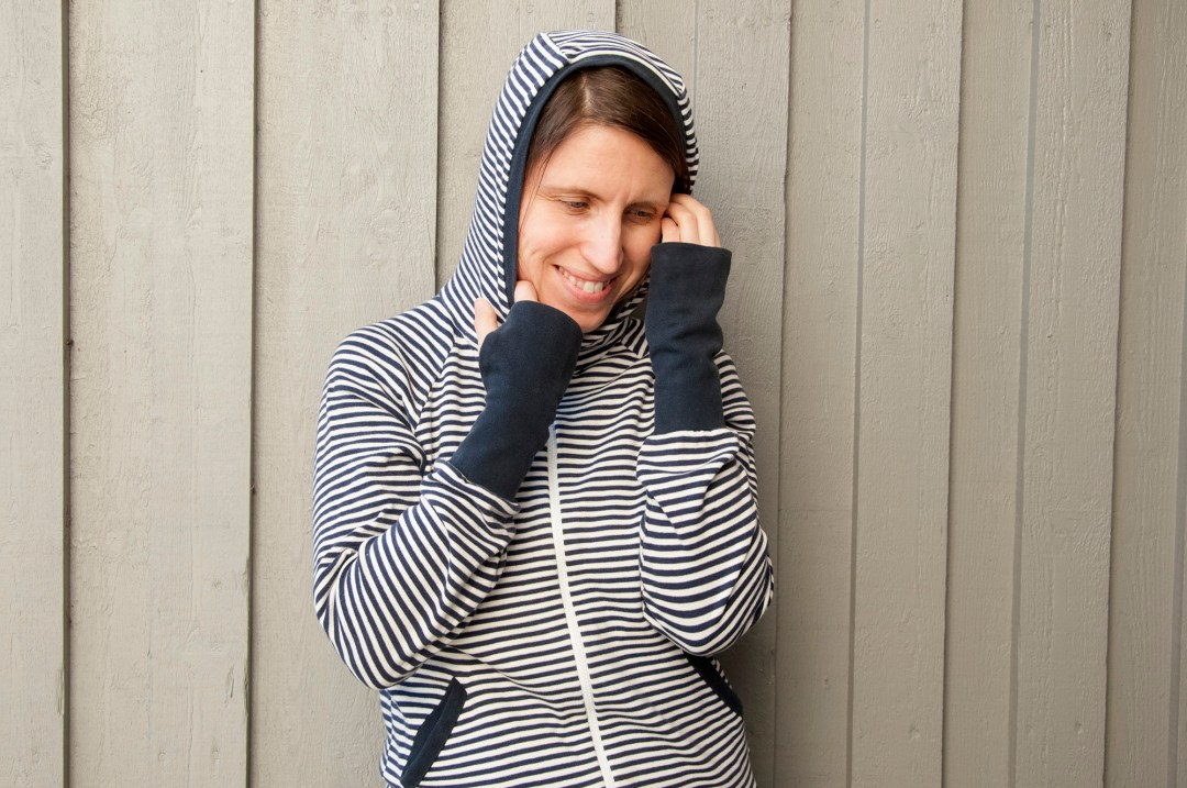Striped hoodie jacket