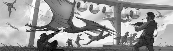 JurassicWorld_PteridactylAttack por Seth Engstrom