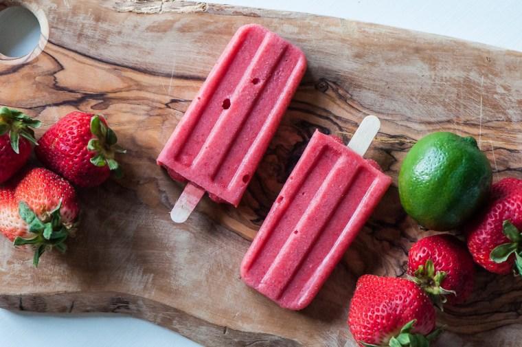 Strawberry Coconut Margarita Pops 10