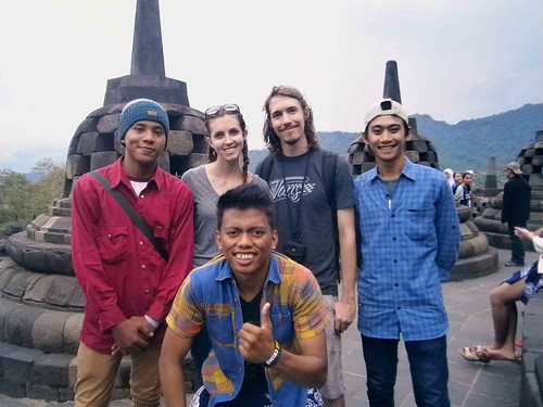 Borobodur Selfie with Indonesians