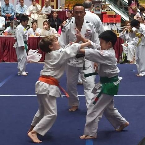 Gavin's judo competition