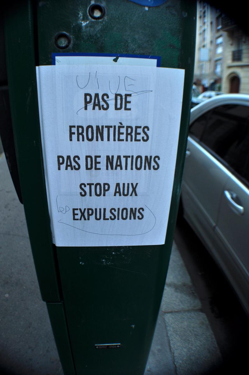 Pas de Frontières Pas de Nations Stop aux Expulsions