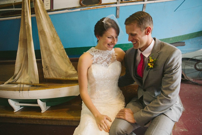 Vintage travel wedding from @offbeatbride