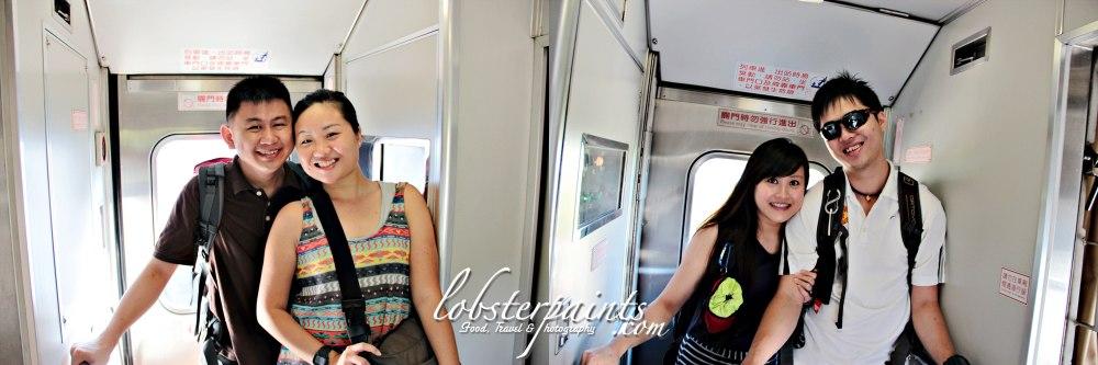 14 September 2012: On board railway train en route to Hualien...