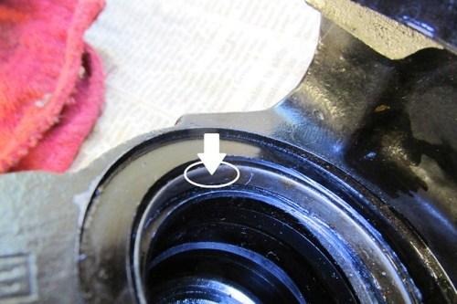Dust Cover Metal Ring Left in Caliper Bore