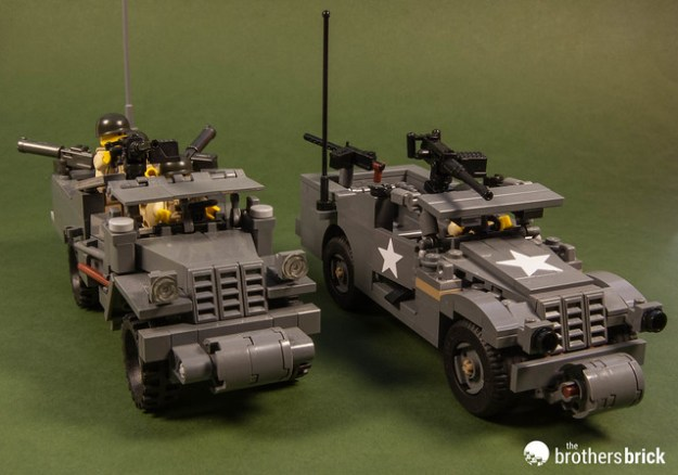 M3 Scout Car: Dunechaser vs. Brickmania
