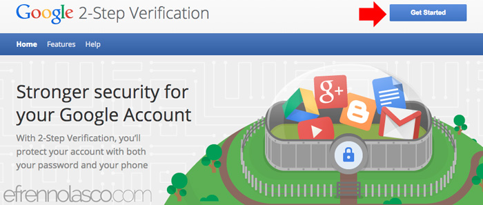 How to add security to google account step 1