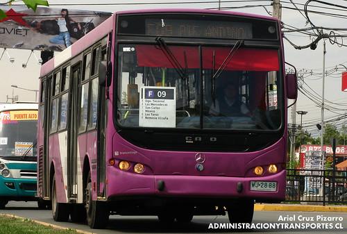 Transantiago - STP Santiago - Caio Apache STD / Mercedes Benz (WJ2888)