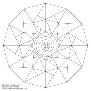 Mandala template 40