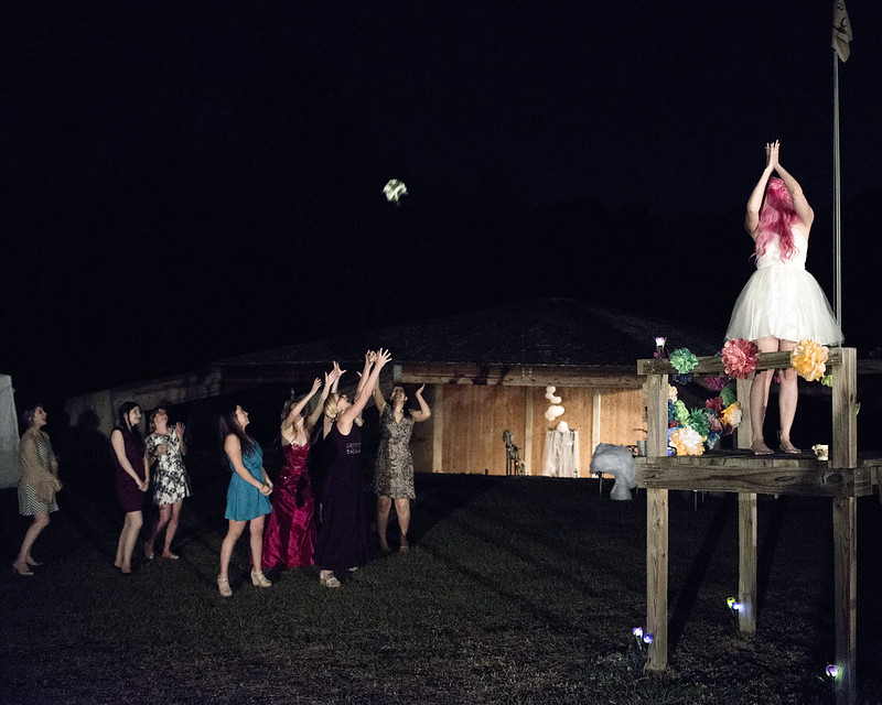Pies, pizza, and pink hair from @offbeatbride