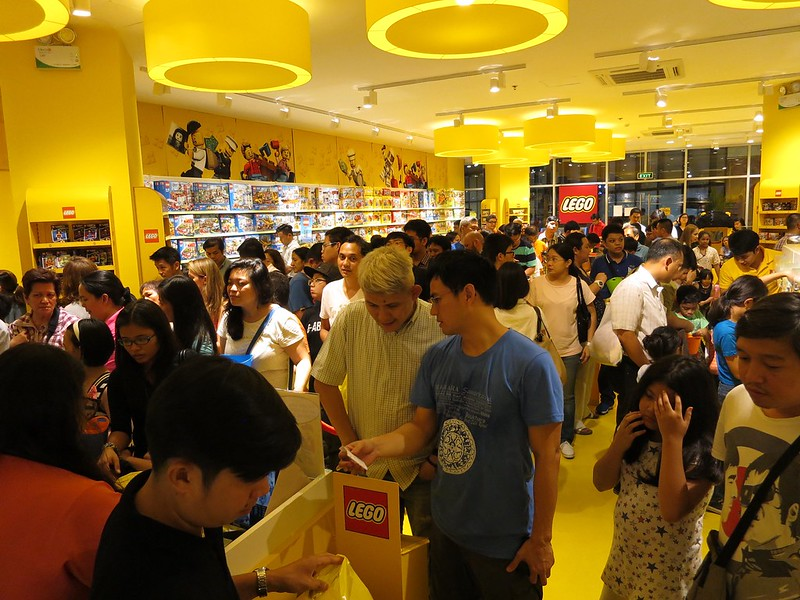 Queueing at the Lego store