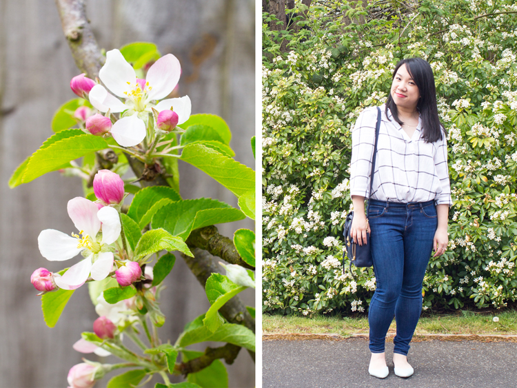 In the Diary - blossom and outfit