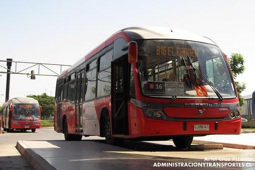 Transantiago - Redbus Urbano - Neobus Mega BRT / Volvo (CJRK41)