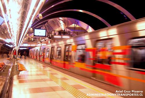 Metro de Santiago - Alstom AS2002 - Príncipe de Gales (L4)