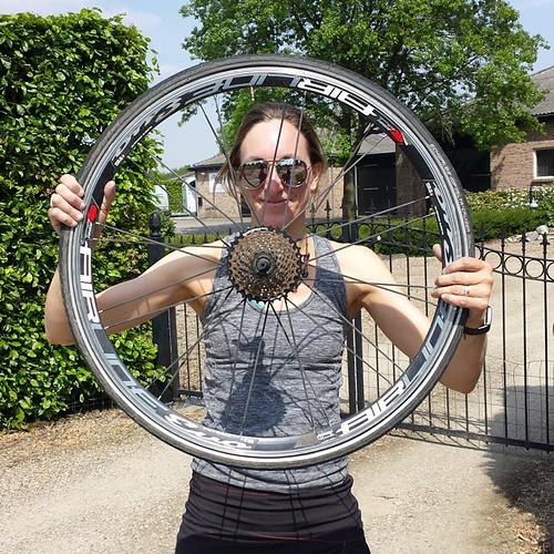 Rit2 : platten band #fietsreis #amsterdam