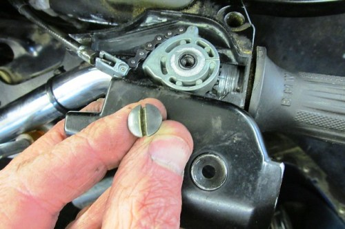 Remove Throttle Cable Cover
