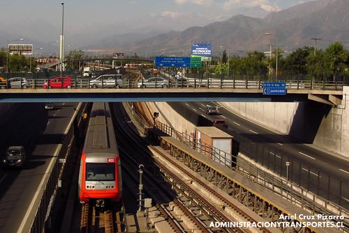 Metro de Santiago - Alstom AS2002 R4422 - Macul / Vicuña Mackenna (L4)