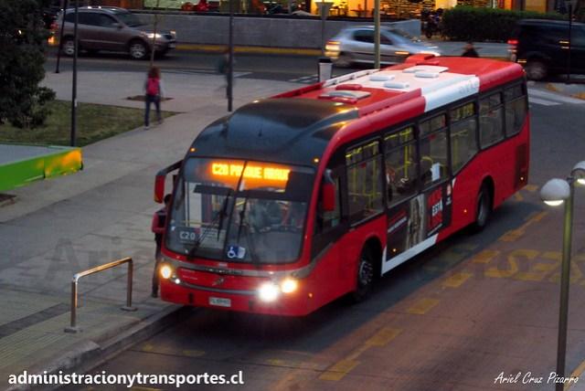 Transantiago C20   Redbus   Neobus Mega BRT - Volvo B290R LE / FLXR95 - 605