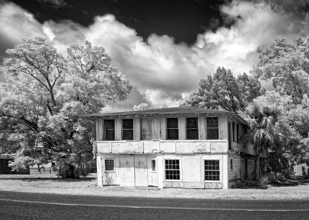 An old building on the street in St. Marys Georgia
