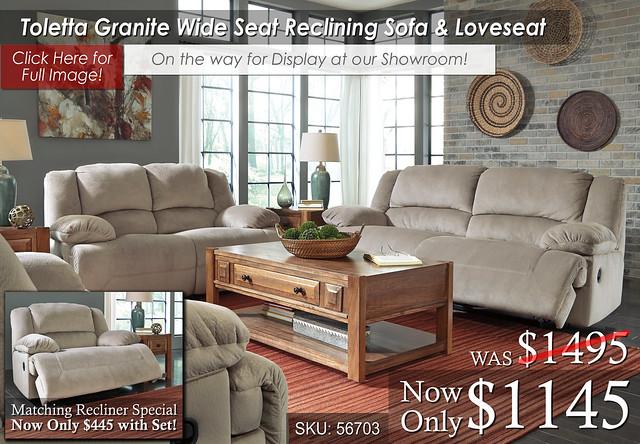 Toletta Granite Reclining Living Set OTW