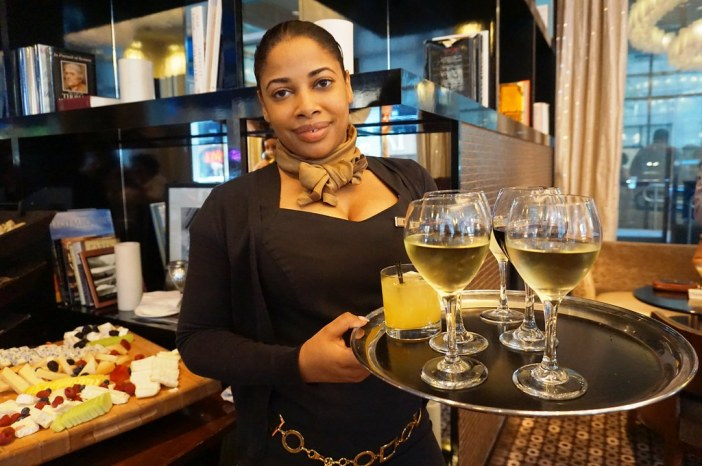 Honey Bud (Drink in tumbler) Served at Liberte Urban Chic Lounge at Sofitel Philadelphia, June 2016