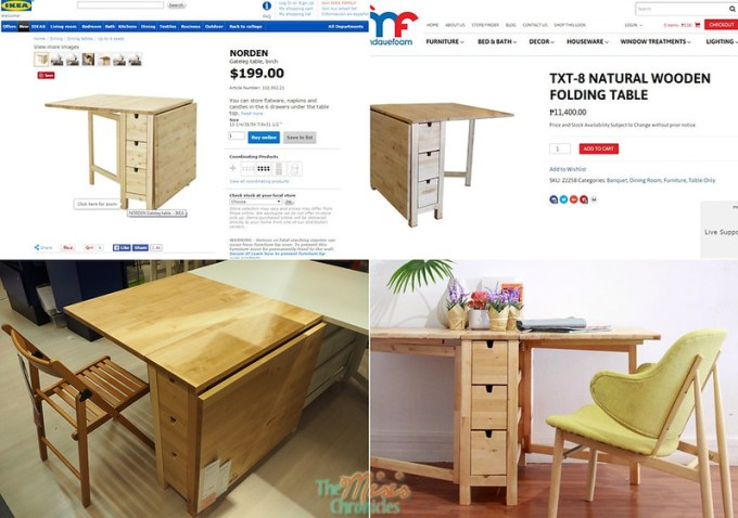Ikea vs. Mandaue Foam folding tables