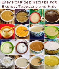 Easy Porridge Recipes for Babies, Toddlers and Kids ...