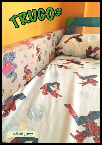 Tapar el espacio entre la pared y la cama de los niños. Truco