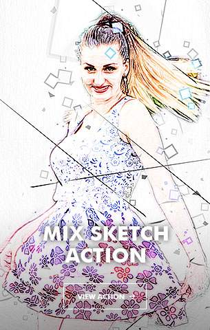 Special Sketch Photoshop Action - 111