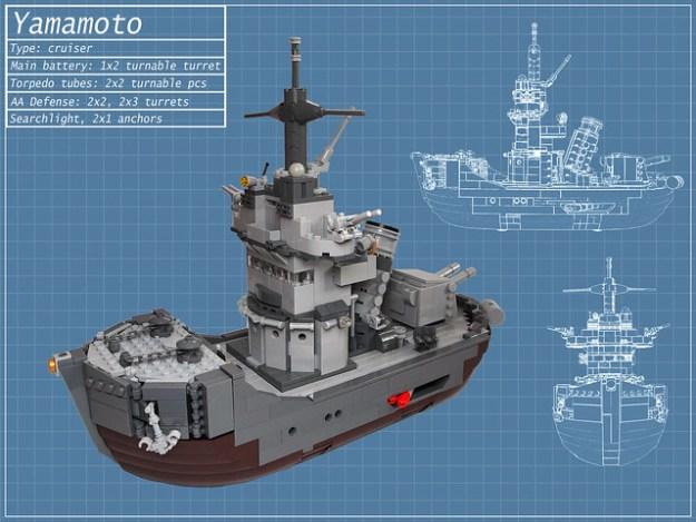 Delightfully Cute Lego Battleship The Brothers Brick The