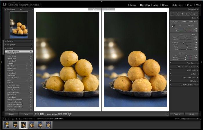 Lightroom Tutorial for Food photos, Lightroom tutorial, Editing RAW files in Lightroom,  Lightroom Food Tutorial, How to edit food photos in Lightroom,