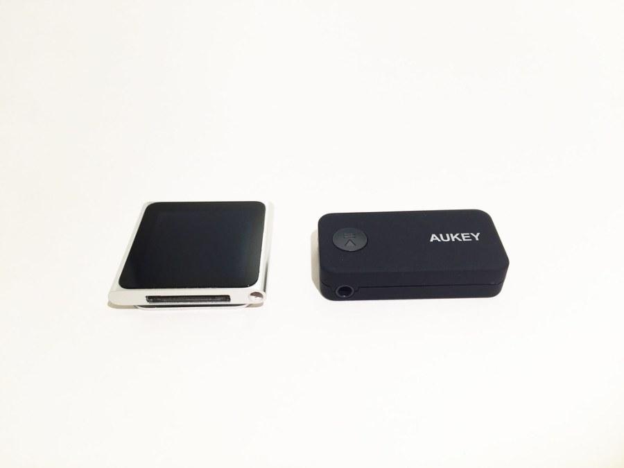Récepteur audio bluetooth 4.1 AUKEY BR-C2 et iPod nano 6G