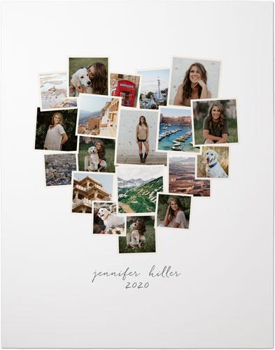 Heart Collage : heart, collage, Tilted, Heart, Collage, Portrait, Premium, Poster, Shutterfly