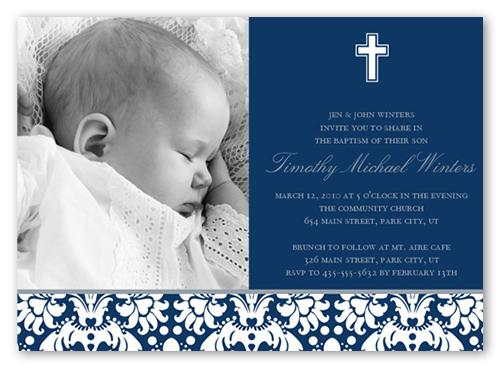 Baptismal Invitation Layout Boy