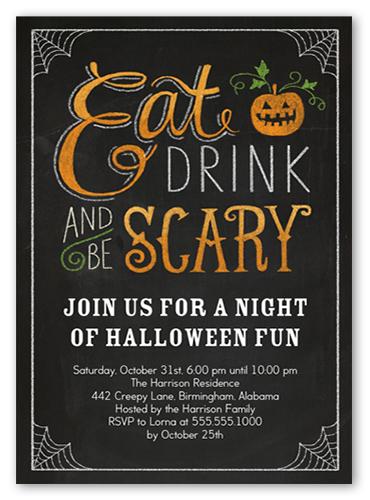 creepy cobwebs halloween eve invitation shutterfly