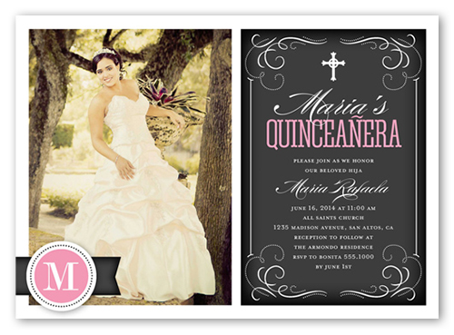 Flourishing Fifteen Quinceanera Invitations Shutterfly