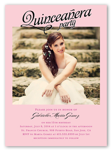 In Honor Of Teenage Birthday Party Invitations Shutterfly