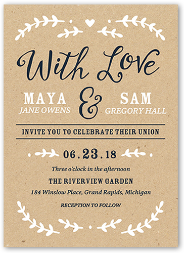 Forever Begins With You 5x7 Wedding Invitations  Shutterfly