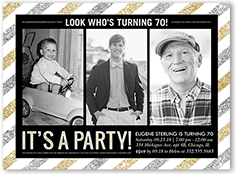 Orders are shipped the next business. 70th Birthday Invitations Shutterfly