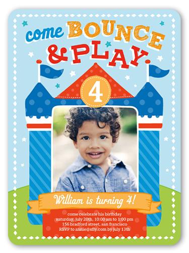 Bounce House Fun 6x8 Boy Birthday Invitations Shutterfly