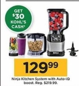 nija kitchen how much does a remodeled cost ninja system with auto iq boost 30 kohl s cash 129 99