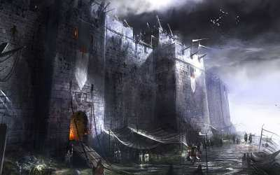 Fantasy art digital art castle medieval 1080P 2K 4K 5K HD wallpapers free download Wallpaper Flare