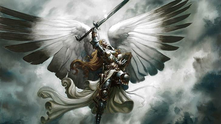 hd wallpaper angel warrier
