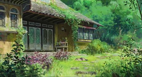 HD wallpaper: anime arrietty artwork boys butterflies flowers garden Wallpaper Flare
