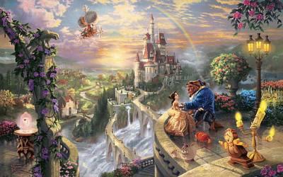 HD wallpaper: love disney company castles movies fantasy art beast magic rainbows vehicles airship villages thomas Entertainment Movies HD Art Wallpaper Flare